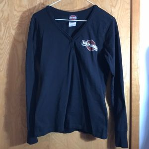 Harley Davidson EDMONTON 2 Button Long Sleeved Tee
